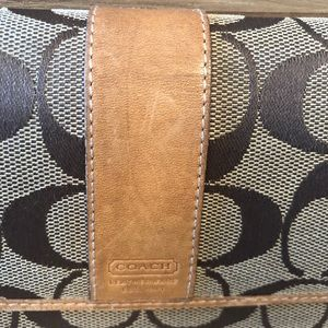Coach Bags - Coach Canvas and Leather Wallet